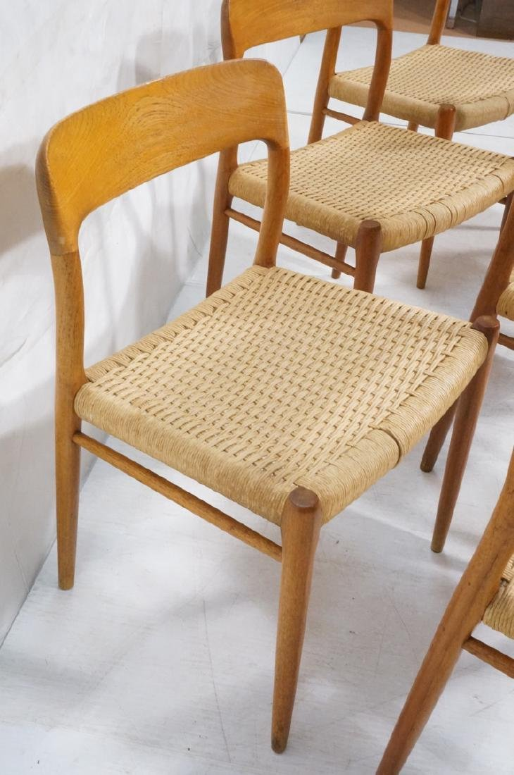 6 Danish Modern MOLLER Teak Dining Chairs. Woven - 3