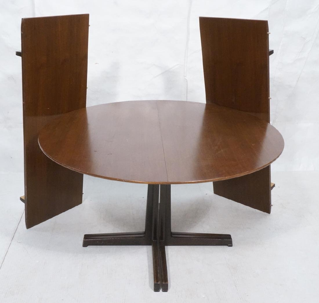 Round DUNBAR American Walnut Dining Table. Modern