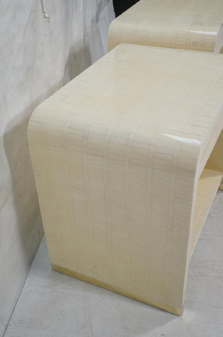 Pr ENRIQUE GARCEL Lacquered Tessellated Bone Nigh - 2