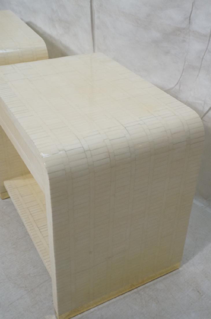 Pr ENRIQUE GARCEL Lacquered Tessellated Bone Nigh - 4