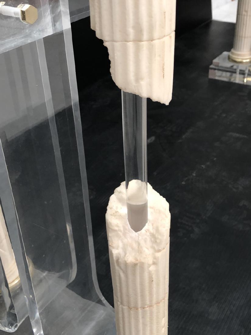 Decorator Modernist Glass Lucite Console Table De - 3
