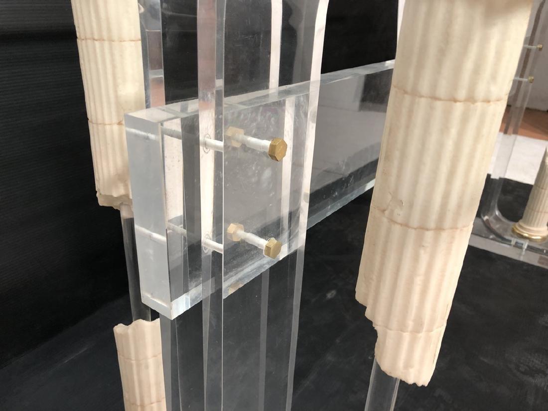 Decorator Modernist Glass Lucite Console Table De - 7