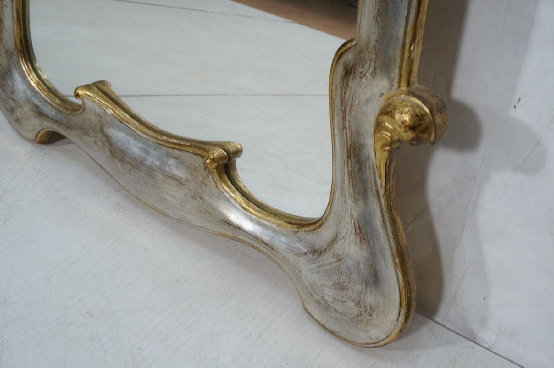 Pr Painted Art Nouveau Style Carved Wood Mirrors. - 10