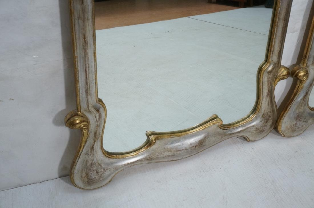 Pr Painted Art Nouveau Style Carved Wood Mirrors. - 5