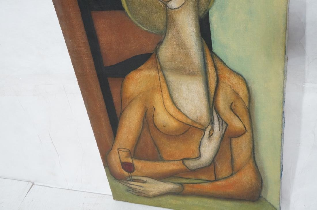 Signed DUNHAM Modernist Oil Painting Female Portr - 4