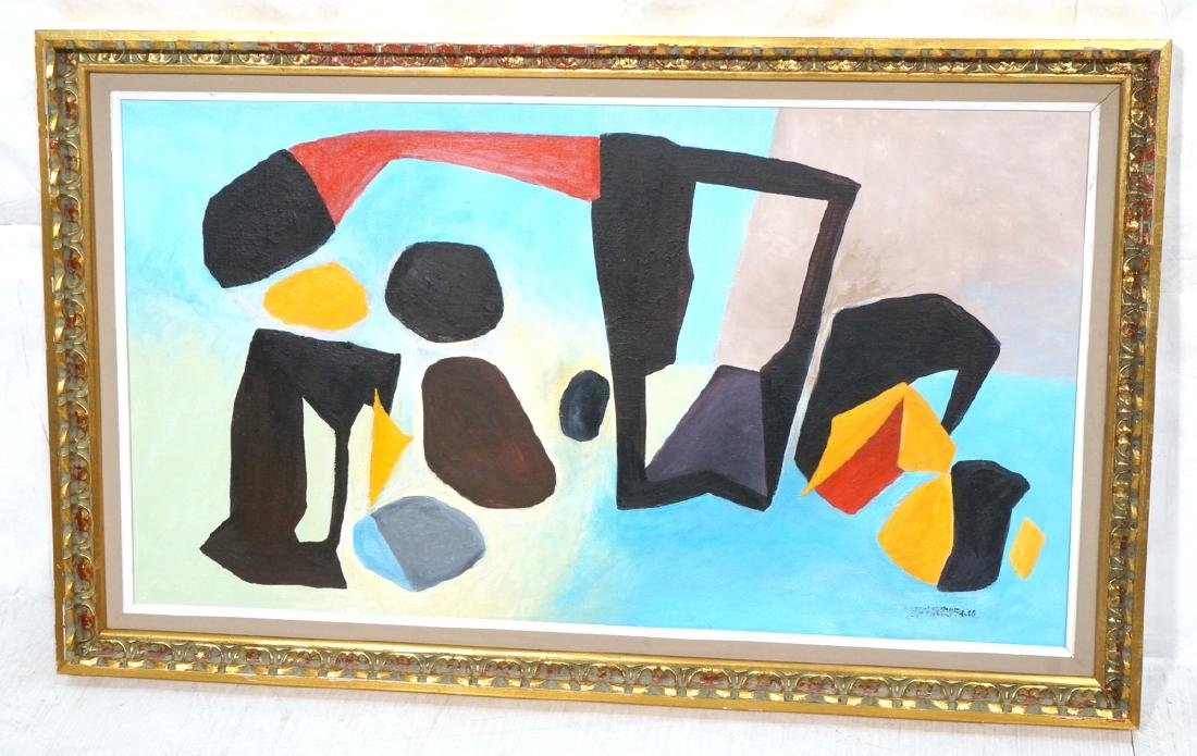 REMO FARRUGGIO Modernist Abstract Painting. Color