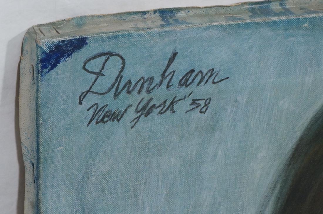 Signed DUNHAM Modernist Portrait Oil Painting. Se - 2