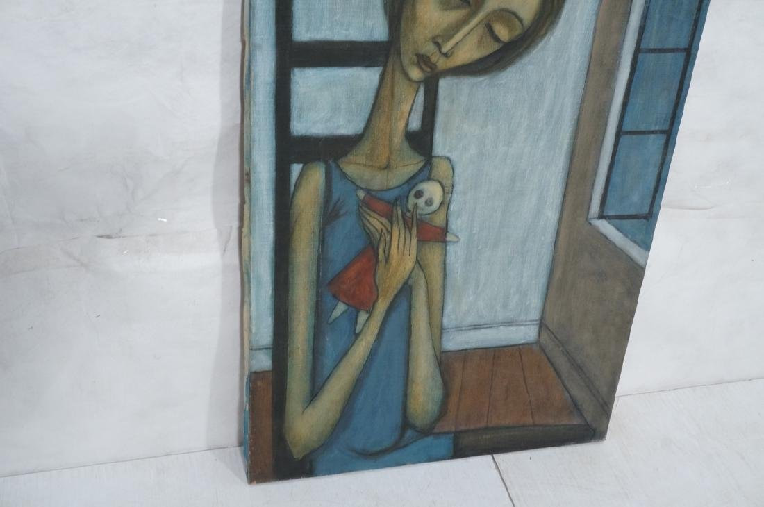 Signed DUNHAM Modernist Portrait Oil Painting. Se - 4