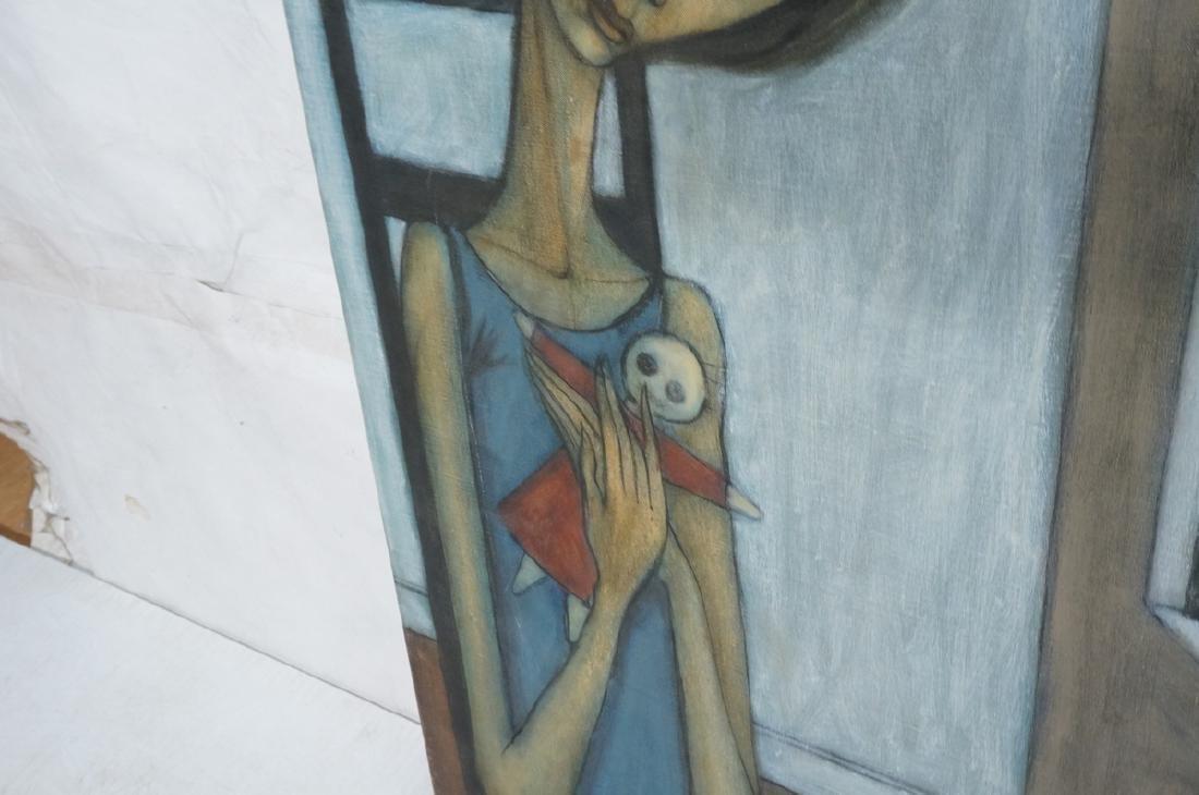 Signed DUNHAM Modernist Portrait Oil Painting. Se - 5