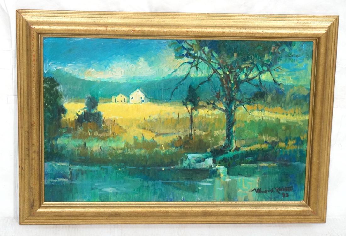 WILMER RICHTER Impressionist Landscape Painting.