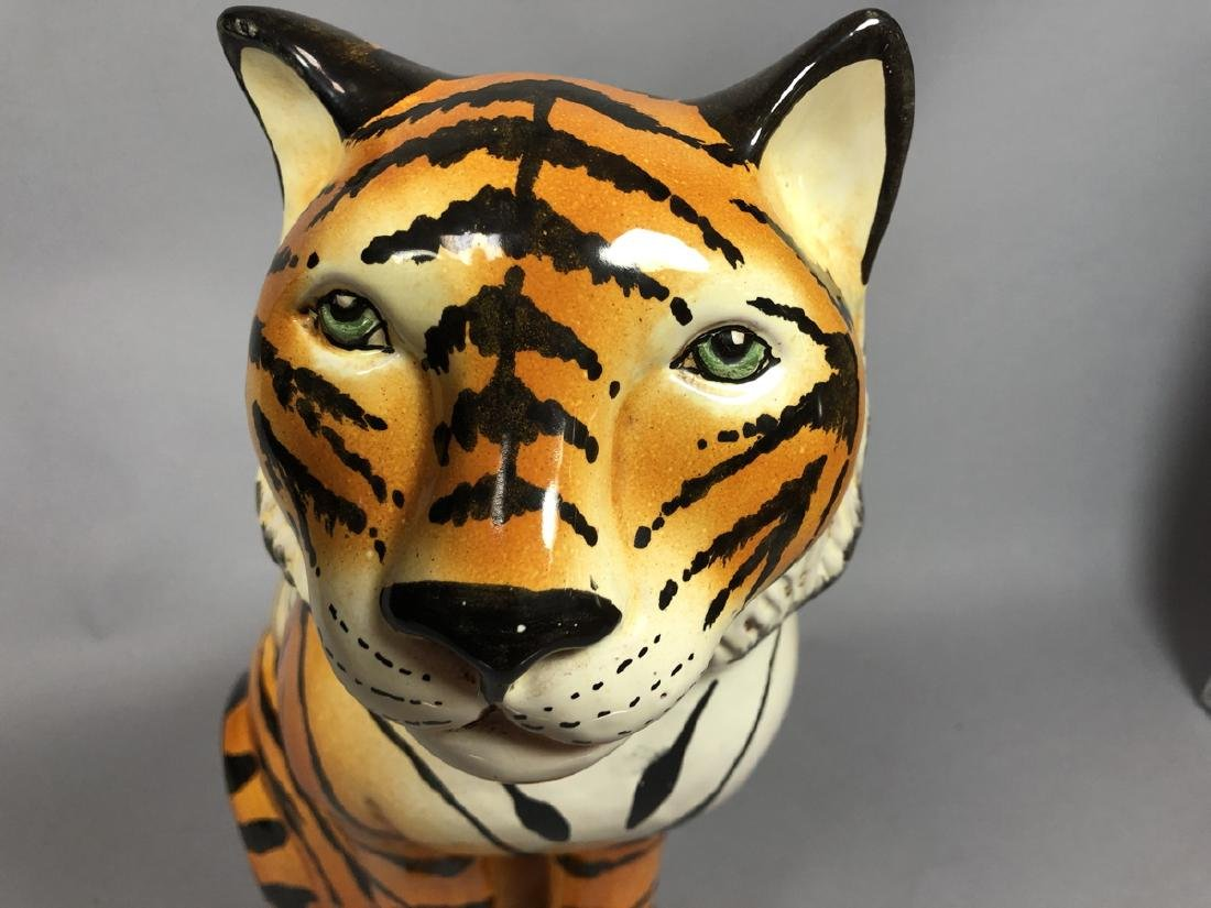 Italian Glazed Pottery Figural Tiger Sculpture. S - 3
