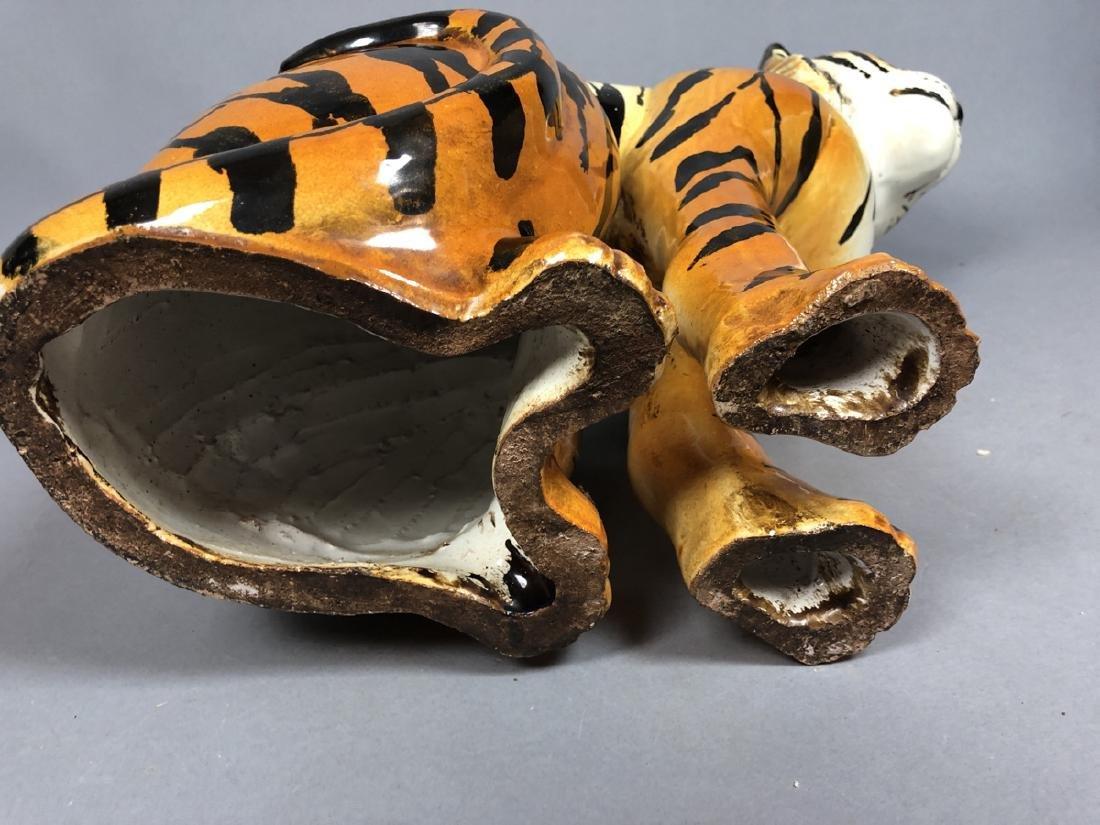 Italian Glazed Pottery Figural Tiger Sculpture. S - 4