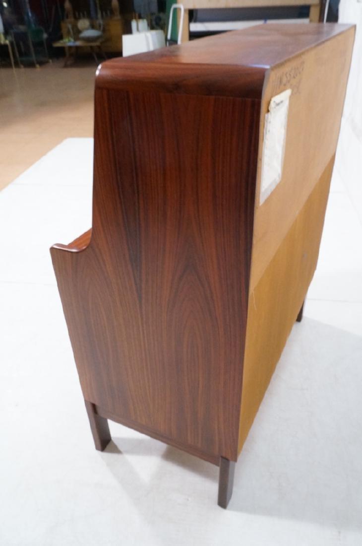 3 Drawer Danish Rosewood Drop Front Desk. Happy V - 10