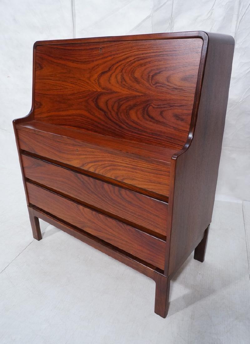 3 Drawer Danish Rosewood Drop Front Desk. Happy V