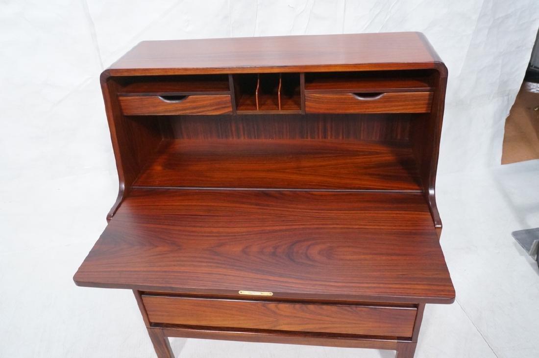 3 Drawer Danish Rosewood Drop Front Desk. Happy V - 2