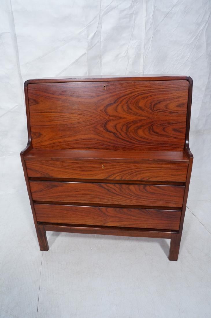 3 Drawer Danish Rosewood Drop Front Desk. Happy V - 3
