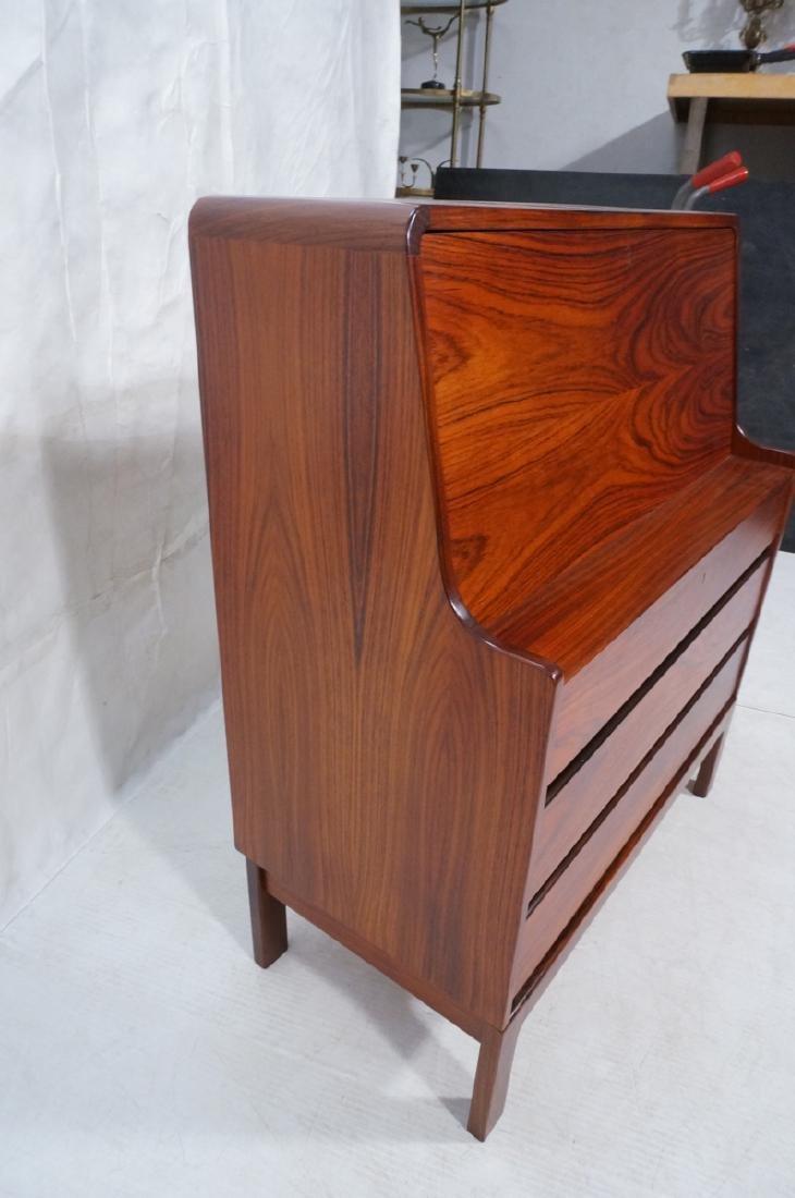 3 Drawer Danish Rosewood Drop Front Desk. Happy V - 4