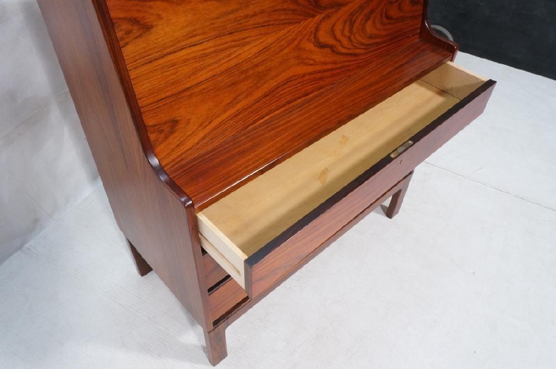 3 Drawer Danish Rosewood Drop Front Desk. Happy V - 7
