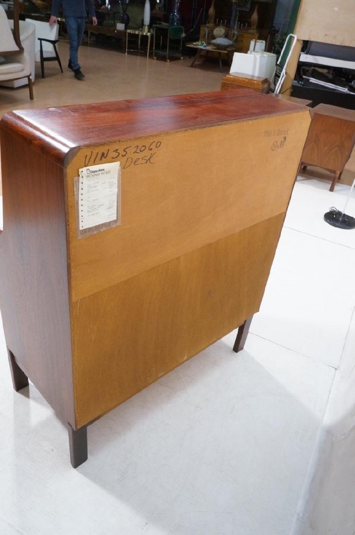 3 Drawer Danish Rosewood Drop Front Desk. Happy V - 8
