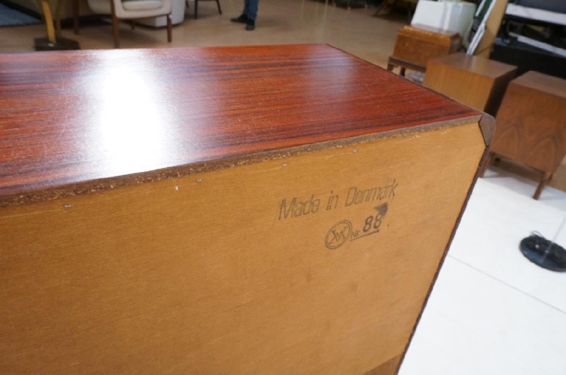 3 Drawer Danish Rosewood Drop Front Desk. Happy V - 9