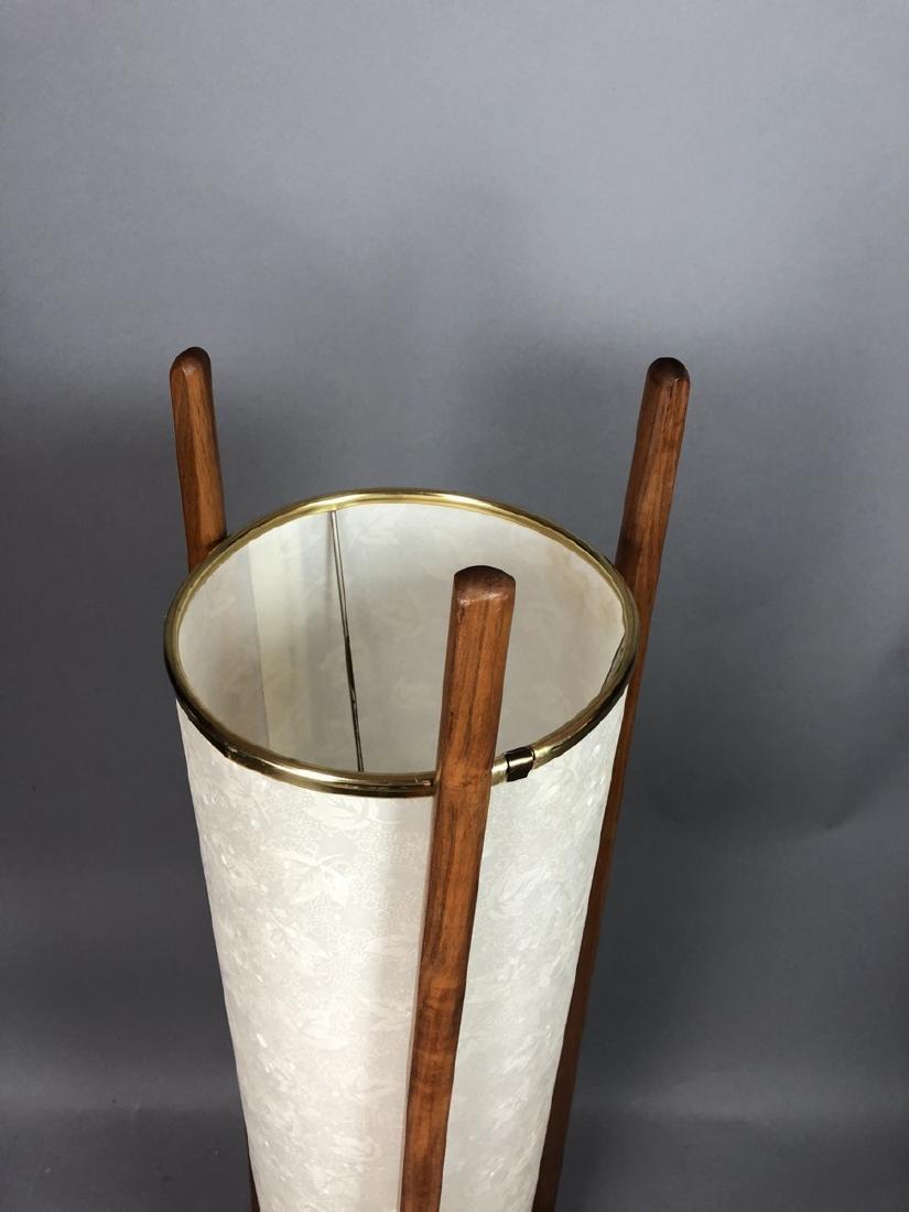 Modern Walnut Tri Leg Table Lamp. Bubble textured - 2