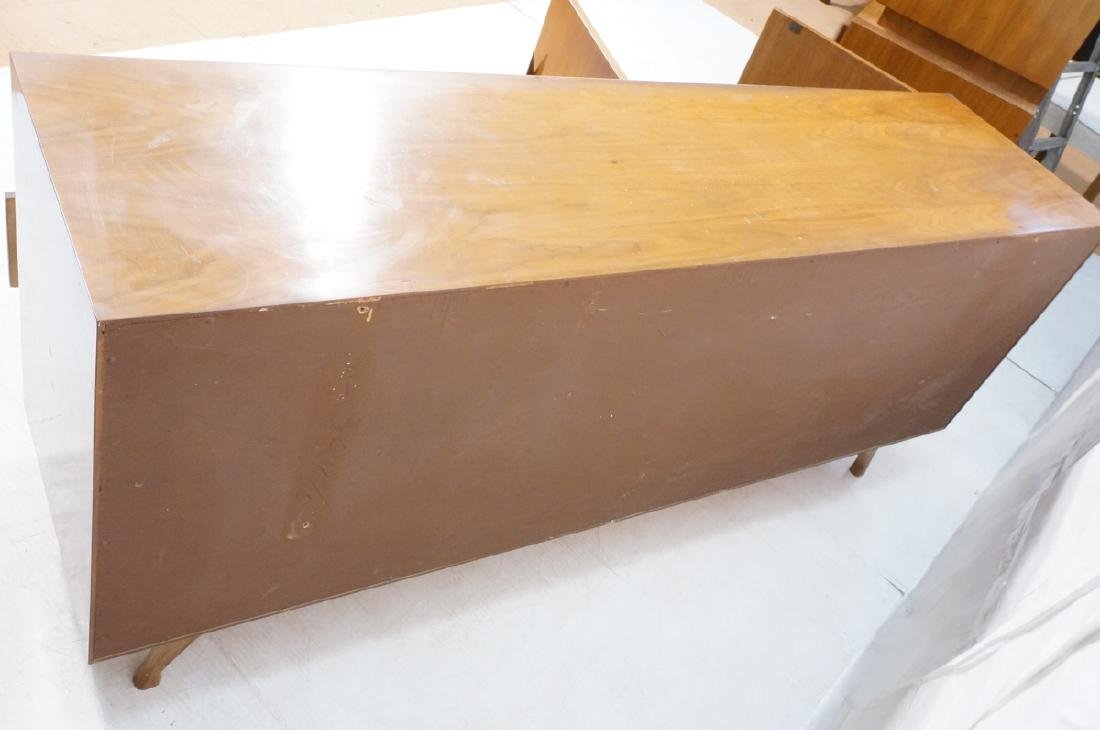 American Modern Walnut High & Low Chests Credenza - 11