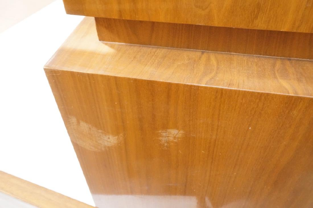 American Modern Walnut High & Low Chests Credenza - 12