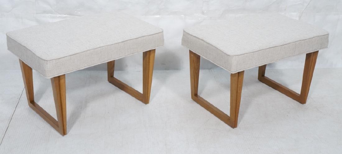 Pr Paul Laszlo Style Style Oak Leg Benches Foot S