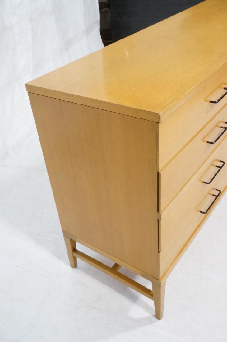 Modern Blond Mahogany 8 Drawer Dresser Credenza. - 2