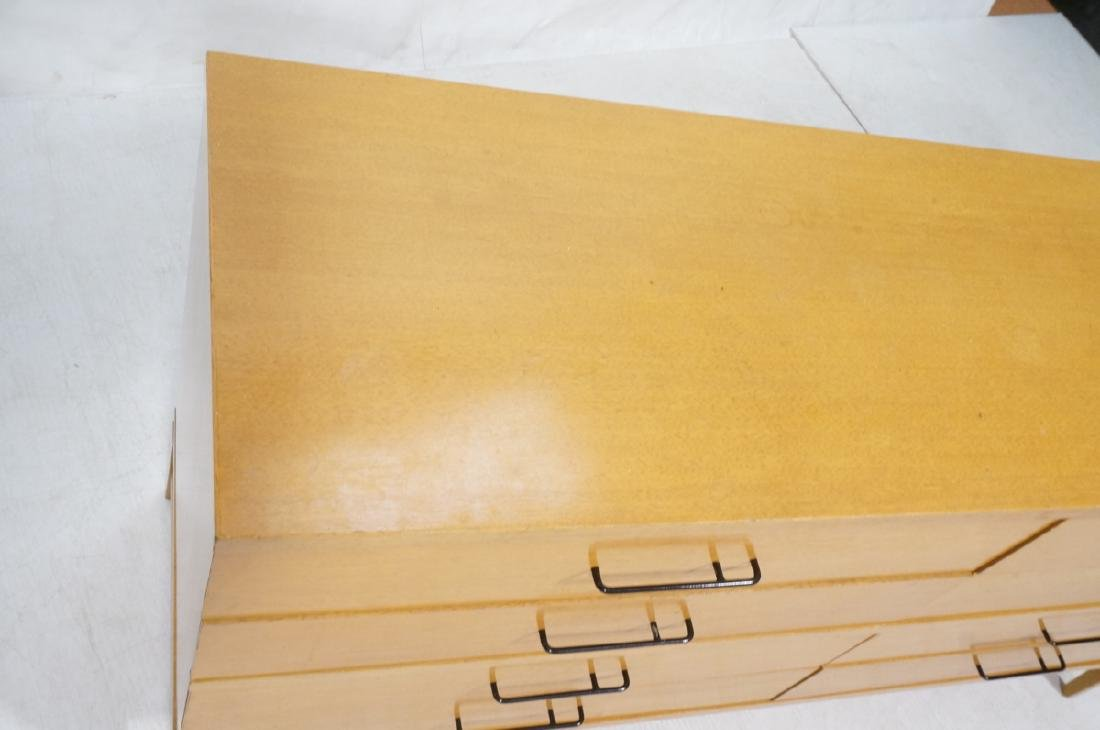 Modern Blond Mahogany 8 Drawer Dresser Credenza. - 3