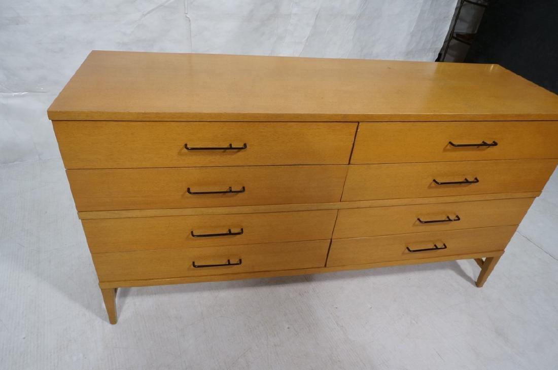 Modern Blond Mahogany 8 Drawer Dresser Credenza. - 4
