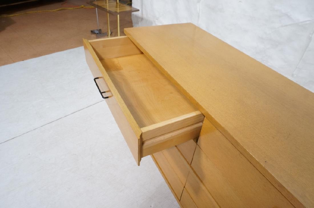 Modern Blond Mahogany 8 Drawer Dresser Credenza. - 5