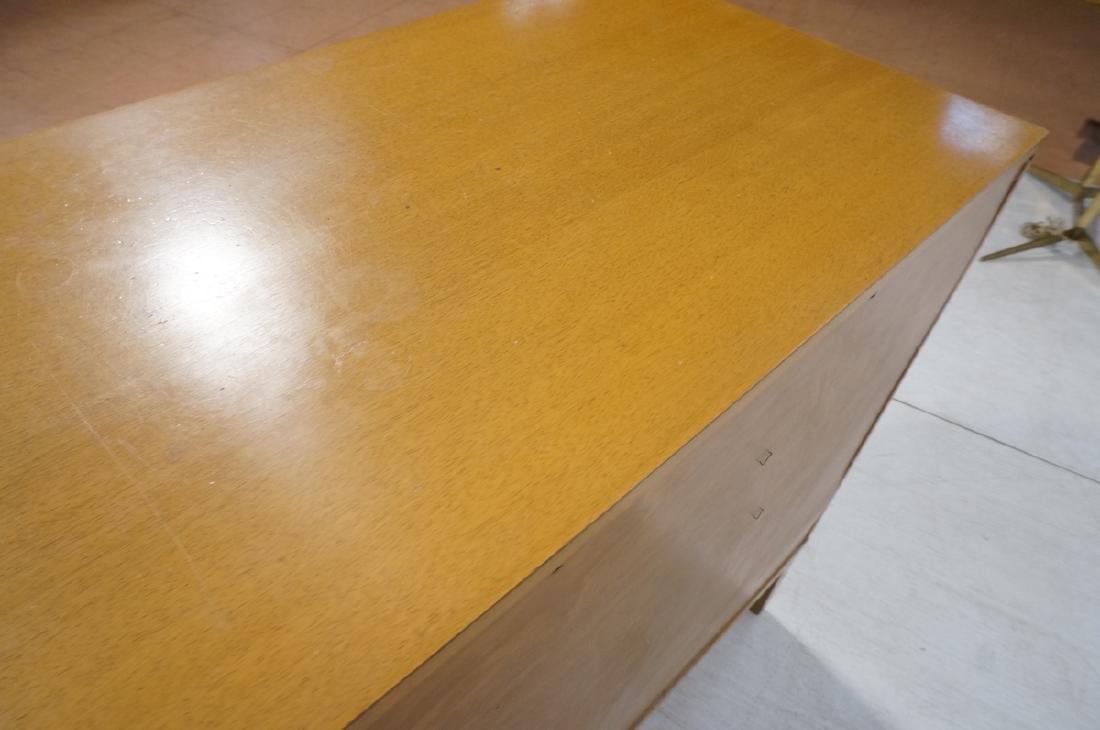 Modern Blond Mahogany 8 Drawer Dresser Credenza. - 9