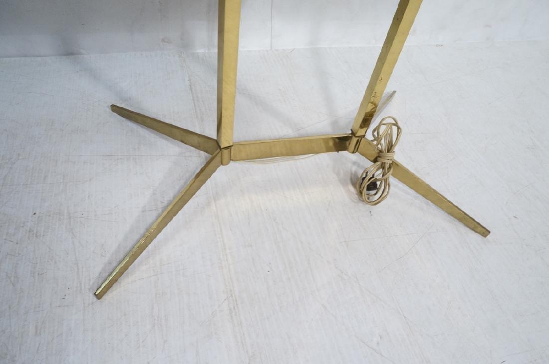 PAUL MCCOBB Style Brass Double Arm Lamp Table. Sq - 3