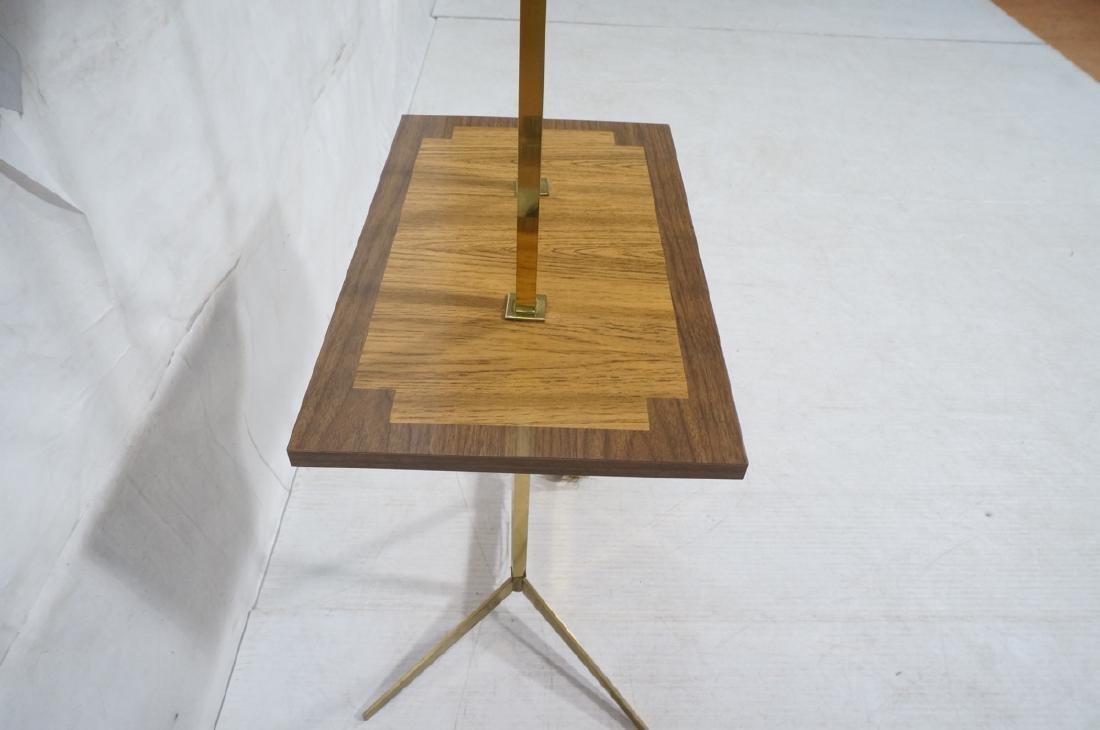 PAUL MCCOBB Style Brass Double Arm Lamp Table. Sq - 5