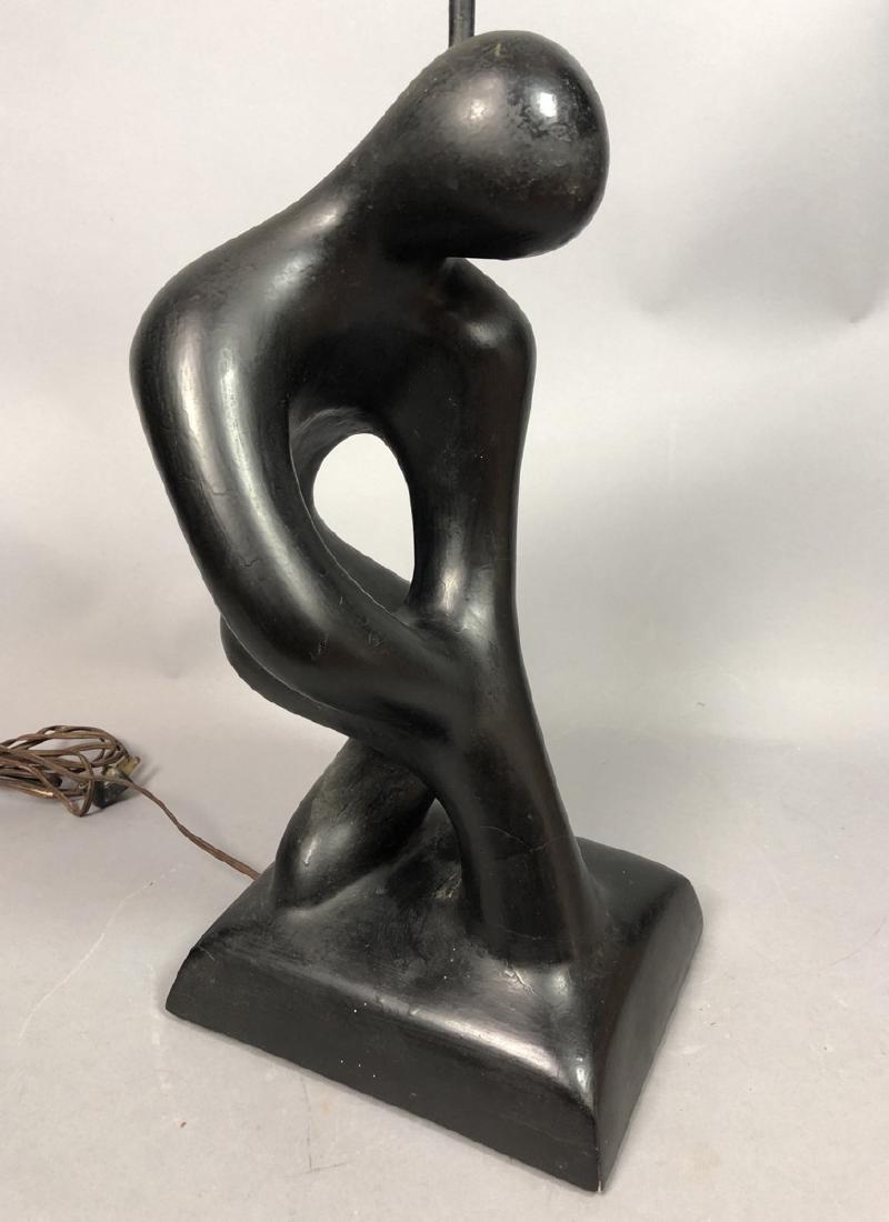 SCULPTURELINE Black Painted Figural Table Lamp. M