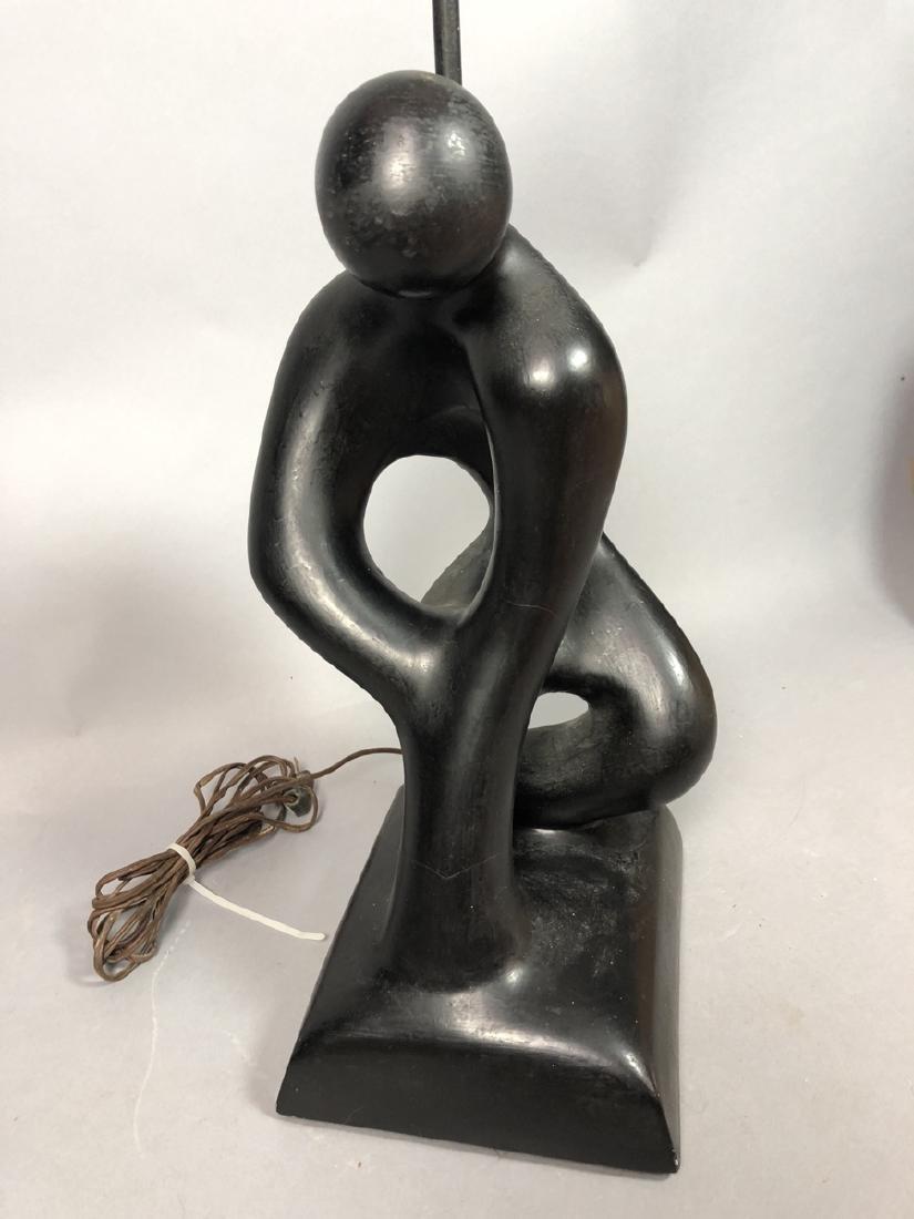 SCULPTURELINE Black Painted Figural Table Lamp. M - 3