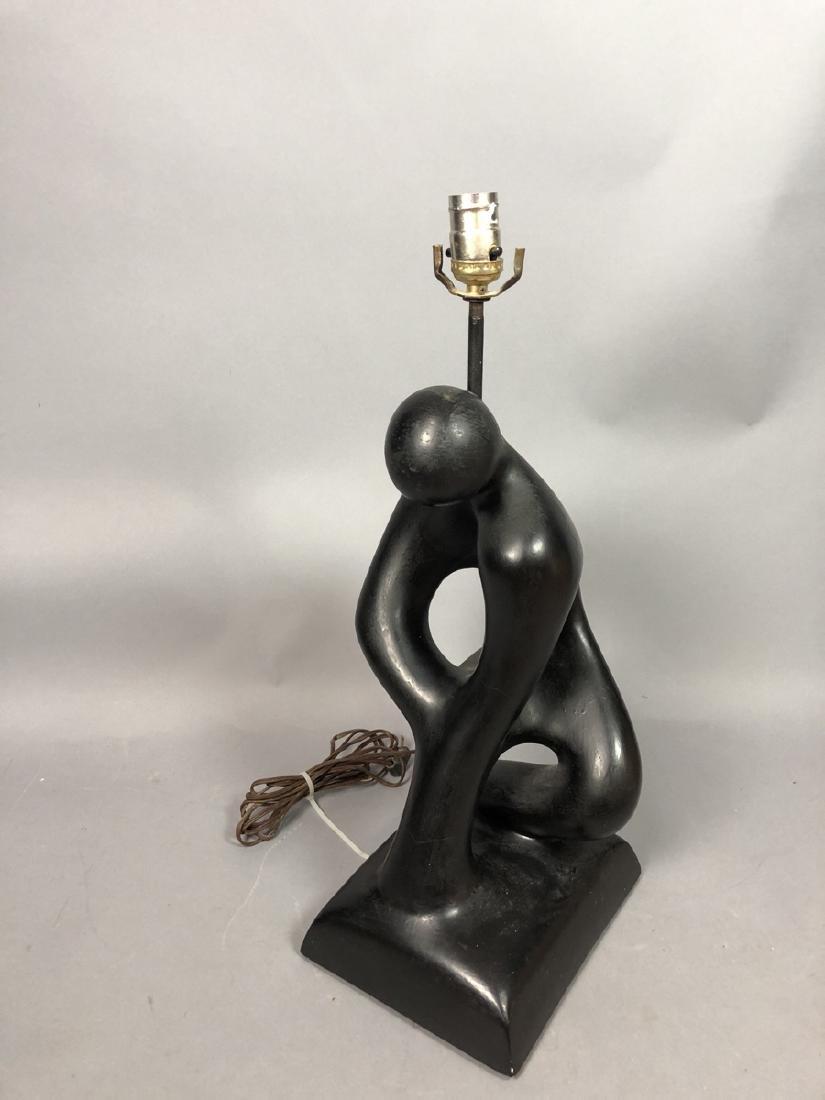 SCULPTURELINE Black Painted Figural Table Lamp. M - 4