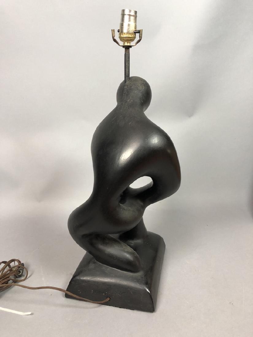 SCULPTURELINE Black Painted Figural Table Lamp. M - 5
