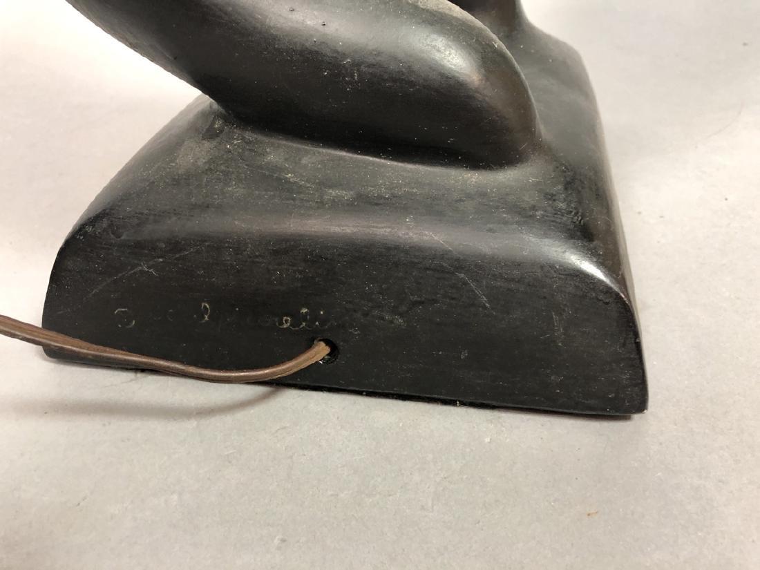 SCULPTURELINE Black Painted Figural Table Lamp. M - 6