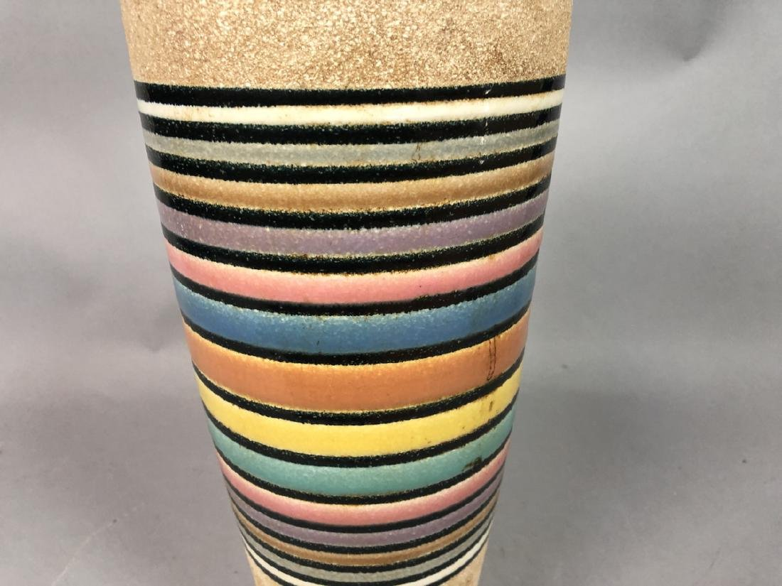 Modernist Rainbow Pottery Table Lamp. Textured ve - 4