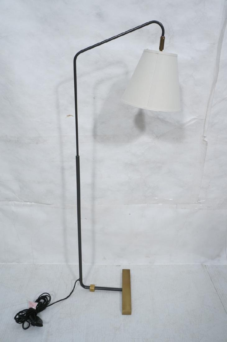 Modern Black Enamel Thin Tube Floor Lamp. Hartman