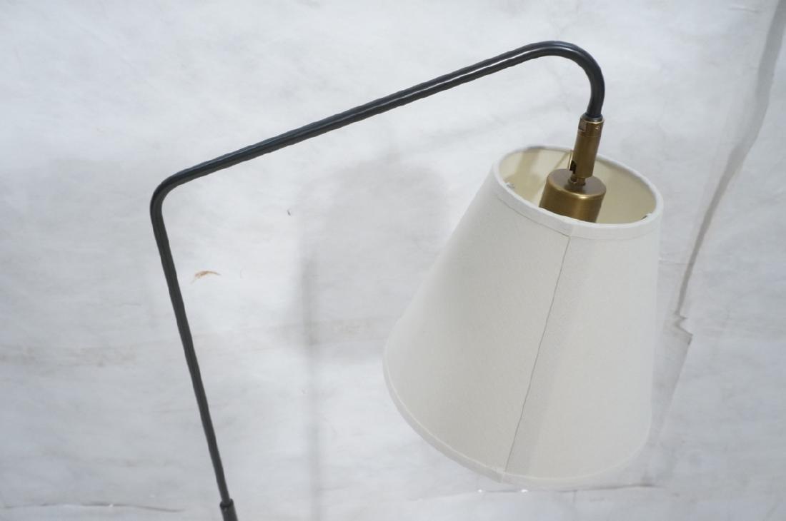 Modern Black Enamel Thin Tube Floor Lamp. Hartman - 2