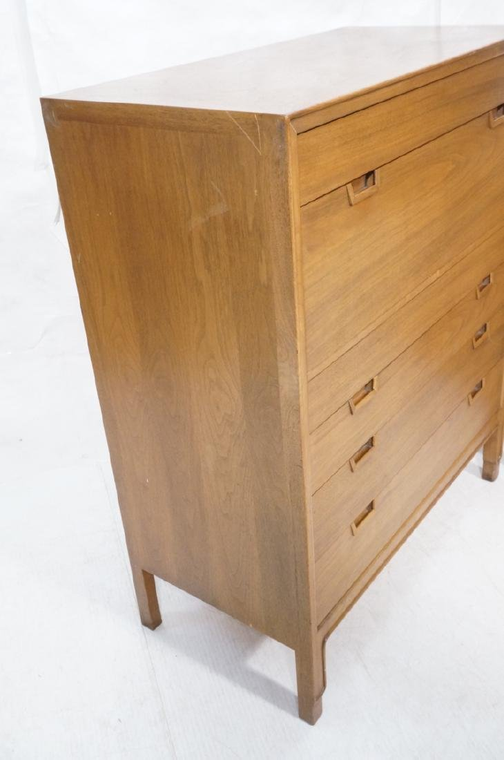 2pc MOUNT AIRY Walnut Bedroom Dressers. JANUS Col - 2
