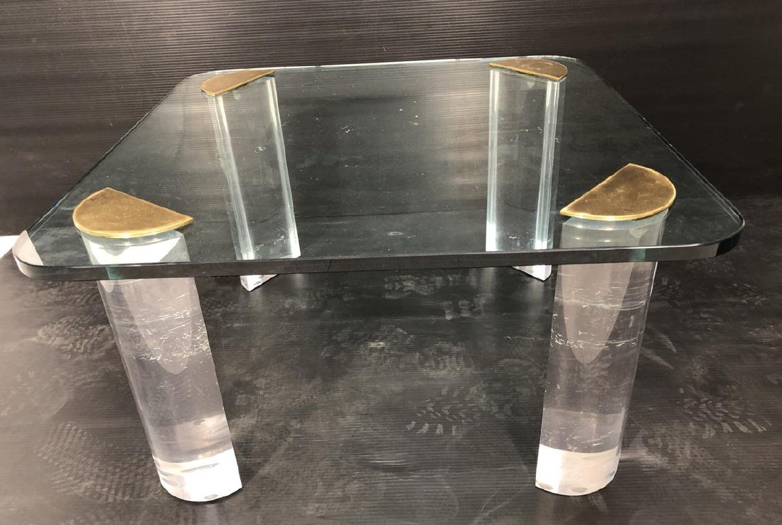 Thick Glass Modern Coffee Table. Thick Clear Luci