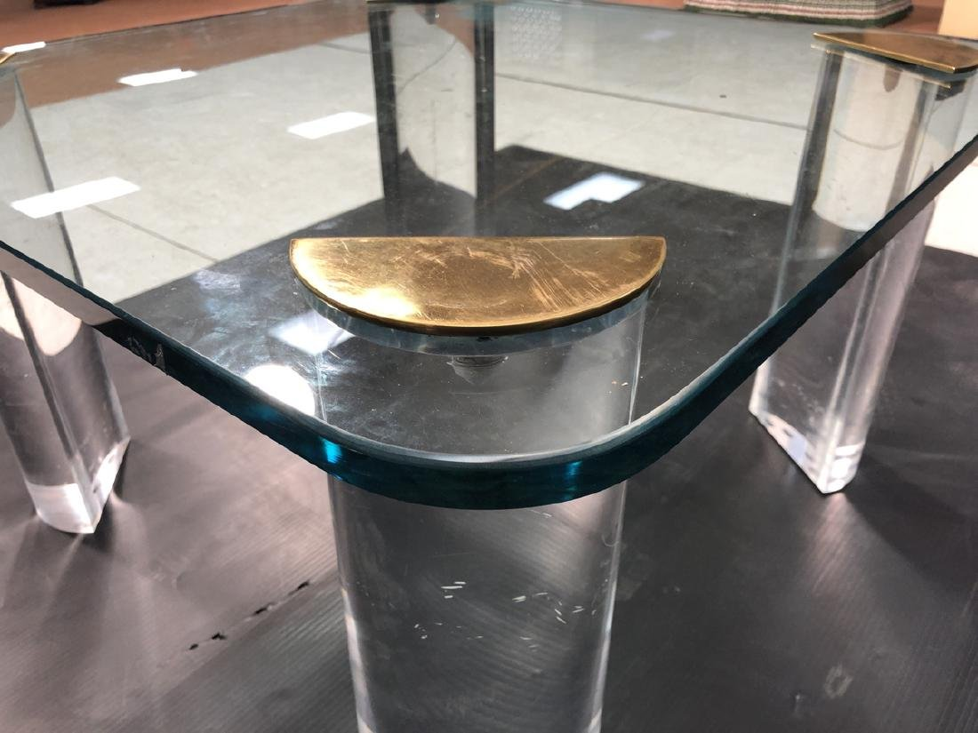 Thick Glass Modern Coffee Table. Thick Clear Luci - 5