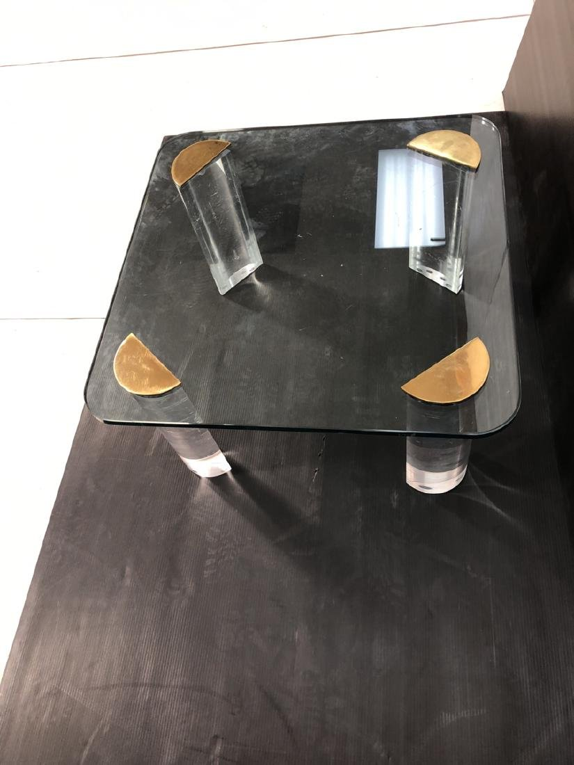 Thick Glass Modern Coffee Table. Thick Clear Luci - 7