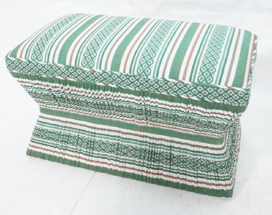 Fabric Upholstered Bench Stool Seating. Corseted