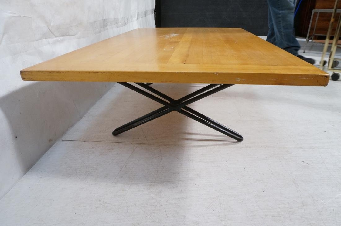Modern Blond Wood Low Coffee Cocktail Table. Heav - 2