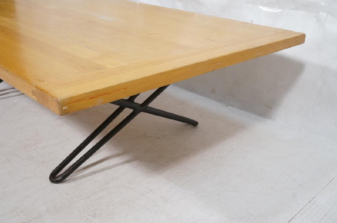 Modern Blond Wood Low Coffee Cocktail Table. Heav - 4